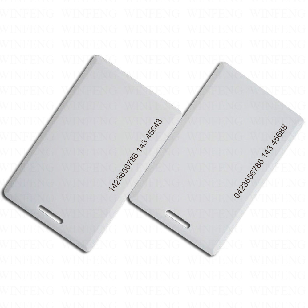 1000pcs/lot Waterproof Access Control ProximityTK4100 EM ID Thick Card Clamshell RFID ID Card with 1.8mm Thickness
