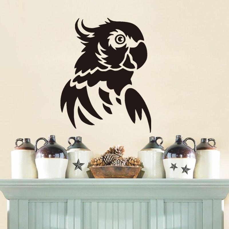 Wild Bird Vinyl Wall Sticker Kids Room Decals Waterproof Parrot Wall Decals Home Decor For Living
