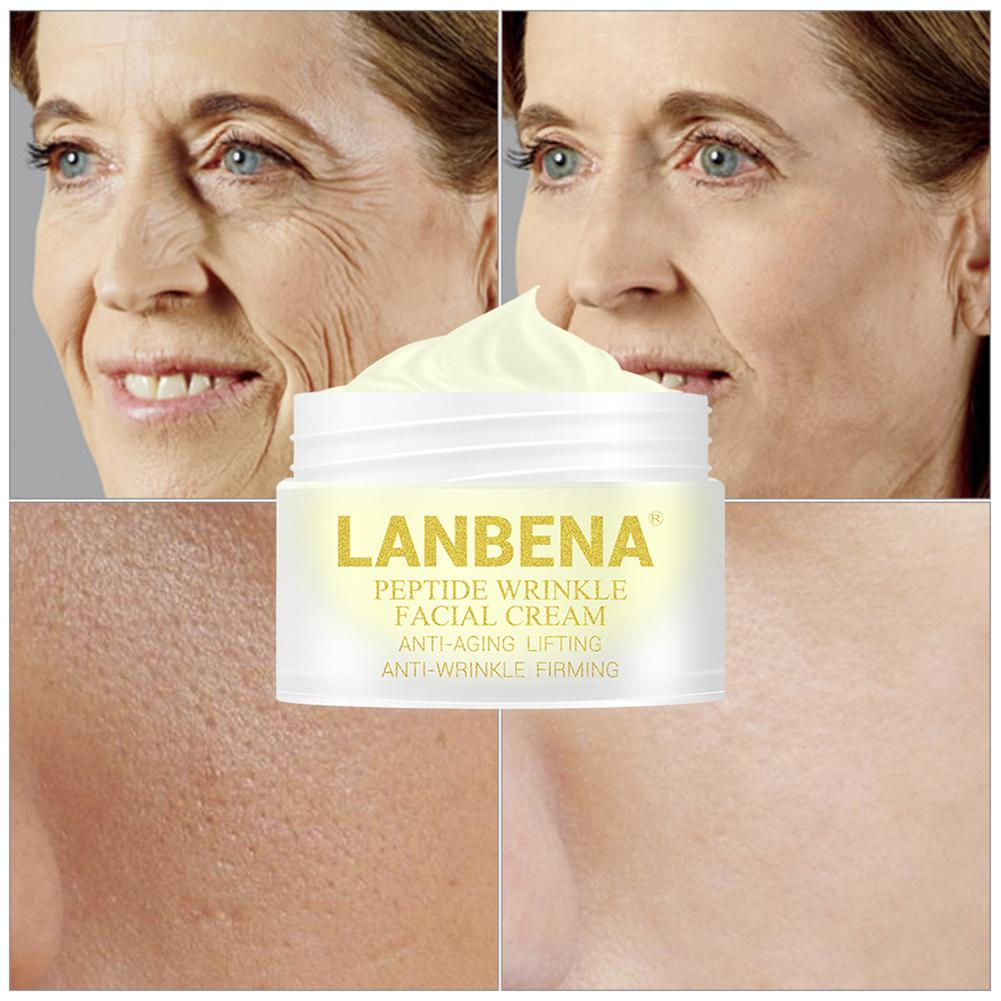 LANBENA Peptide Anti Wrinkle Facial Cream Anti Aging Skin Whitening Lifting Firming Acne Treatment Hyaluronic Snail Facial Care
