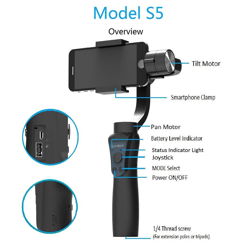 Камера крепление ручной 3 оси Gimbal стабилизатор Anti-Shake гладкой палок для селфи телефон стабилизатор для iPhone samsung HUAWEI