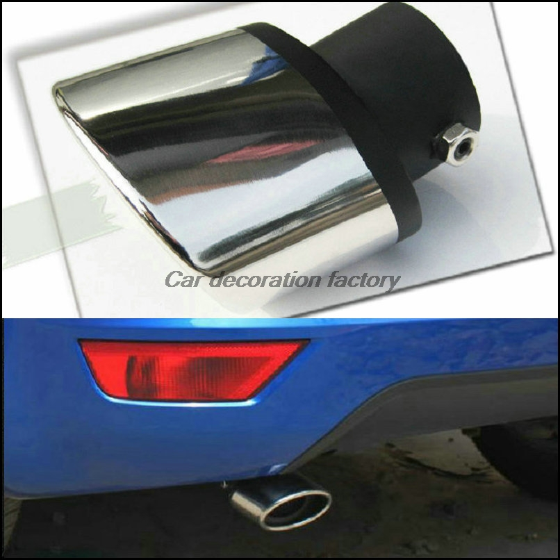 free shipping! Car Styling Highlights of stainless steel The adornment of the car's exhaust for chevrolet cruze AVEO ford focus high quality car central station mat sticker for chevrolet cruze black 1pcs free shipping kl12329