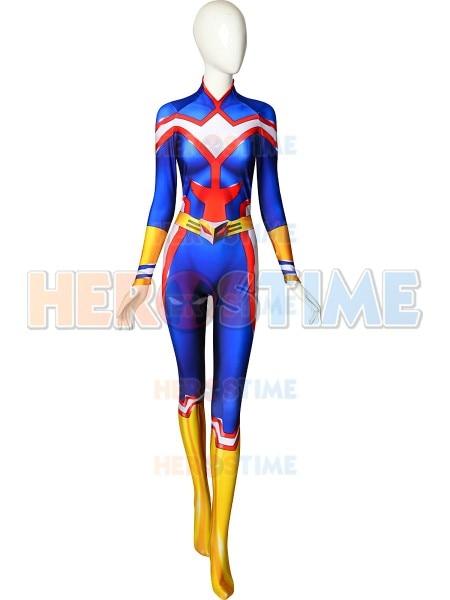 Female All Might Cosplay Costume My Hero Academia Boku no Hero Academia 3D Print Lycra Ladys