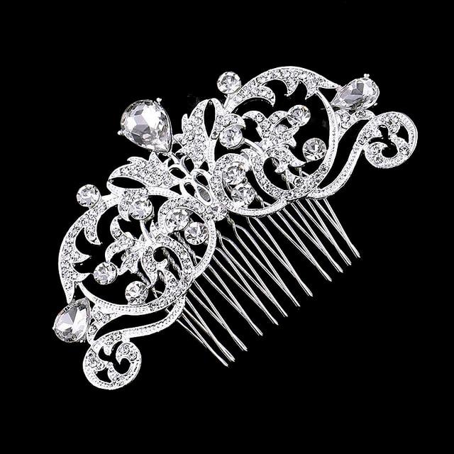 TREAZY European Designs Floral Wedding Hair Accessories Simulated Pearl Crystal Flower Bridal Hair Combs Wedding Hair Jewelry