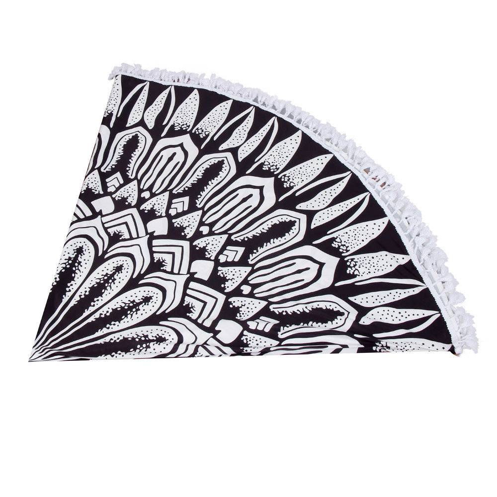 Hot! New Fashion Summer Beach Swim Bath Towel Round Beach Pool Home Shower Towel Blanket Table Cloth Yoga Mat drop shipping w15