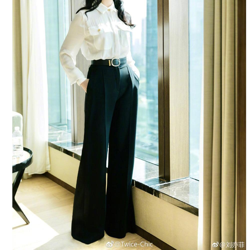 lady wide leg pants trousers