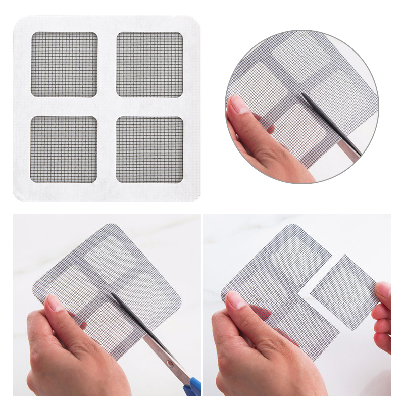 3pcs Easy Repairing Stickers Gluing Patches Anti-mosquito Net Self Adhered Home Door Window Mesh Curtain Repair Subsidy Stick