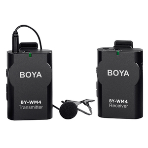 Image 3 - BOYA BY WM4 Wireless Lavalier Microfono Sistema di Video Intervista Mic per Canon Nikon Sony DSLR Smartphone iPhone X Samsung Xiaomi