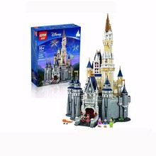 Lepin 16008 Creator Cinderella Princess Castle City 4080Pcs Model Building Minifigures Block Kid brinquedos Compatible Legeod