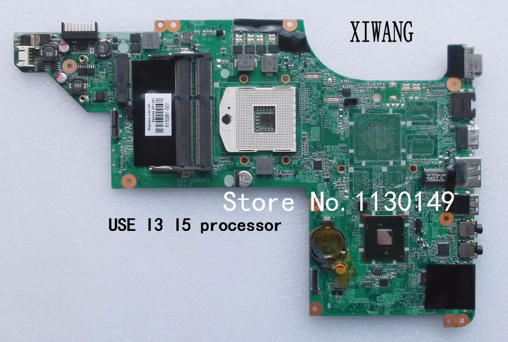 615281-001 DDR3 DA0LX6MB6F1 DA0LX6MB6H1 For HP DV6 DV6-3000 Laptop Motherboard,100% Fully Tested With Warranty Free Shipping