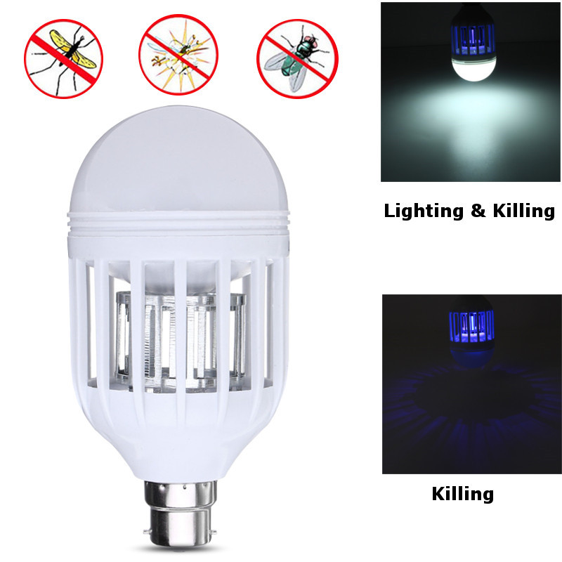E27/B22 UV LED Mosquito Zapper Killer Lamp Bulb Electric Trap Light Electronic Anti Insect Bug Wasp Pest Fly Outdoor Greenhouse uv 5w electronic mosquito killer repeller zapper led indoor bed room insect killer pest controll outdoor home fly bug trap lamp