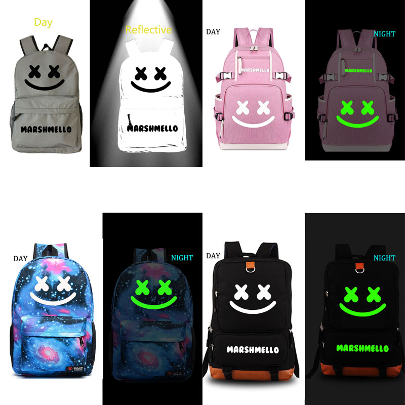 Marshmello school bag DJ backpack student school bag Notebook backpack Leisure Daily backpack dj bag dja notebook
