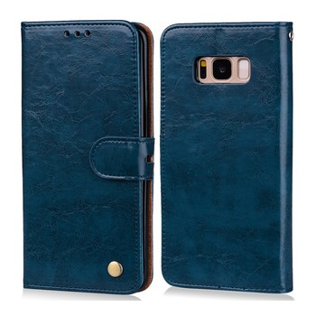 OUJINUO oil leather case for Samsung galaxy s5 s6 s6edge s7 s7edge cover holder wallet phone bags for samsung galaxy s8 s9 plus