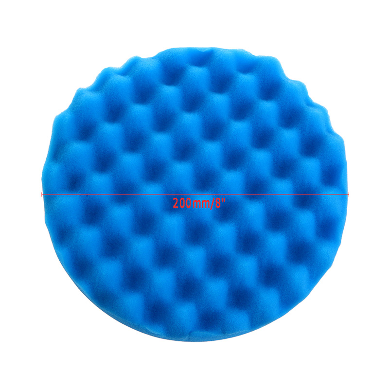 4Pcs/Set 8 inch Buffing Polishing Sponge Wave Foam Buffing Pads for Car Polisher  цены