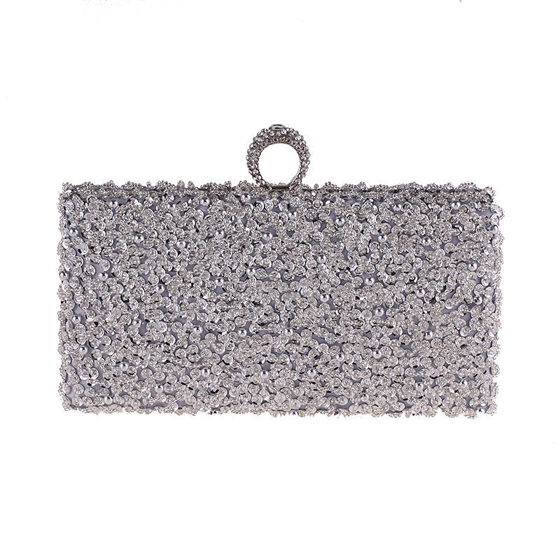 Women Clutch Bags Beads Evening Ladies Beaded Embroidered Wedding Party Bridal Handbag Purse Bag Day Clutches Chain Shoulder Bag