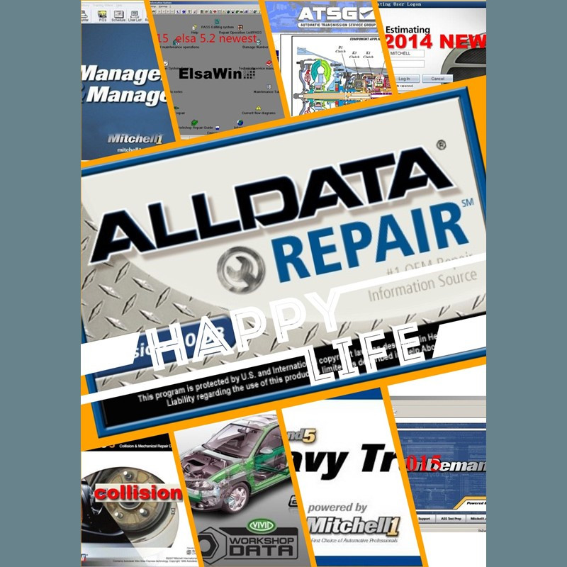Alldata software programs V10.53 auto repair mitchell ondemand vivid workshop automotive