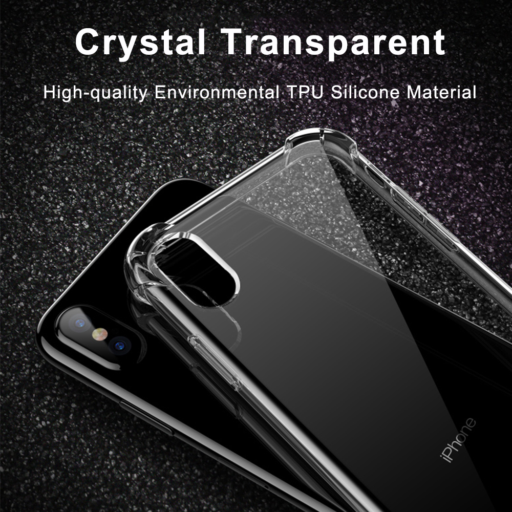 Anti-knock Clear Silicon Shockproof Cover with TPU iPhone Case 5