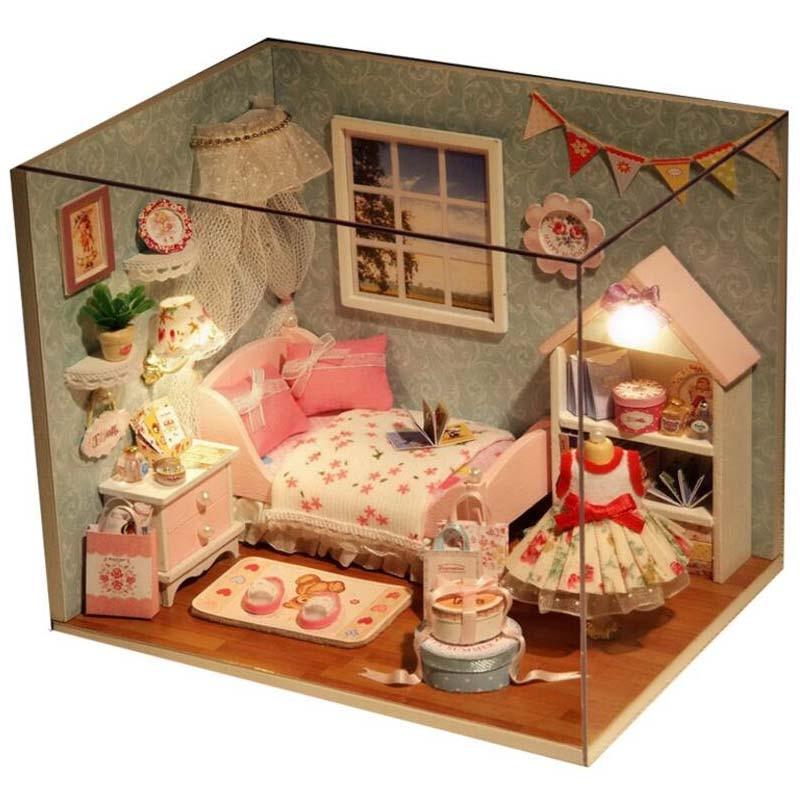 Aliexpress Com Buy Doll House Diy Handmade Wooden Miniatura