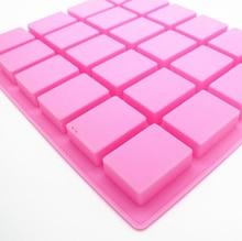 SıCAK Silikon Puding şekerleme kalıbı 24 Kavite Kare Silikon Sabun Kalıp El Yapımı Mum Dekorasyon Kalıp Sabun Zanaat Malzemeleri
