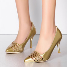 Office Career Fashion lady leather cut out pumps Patent Leather High-heeled woman lady shoes breathable sandals Large size shoes