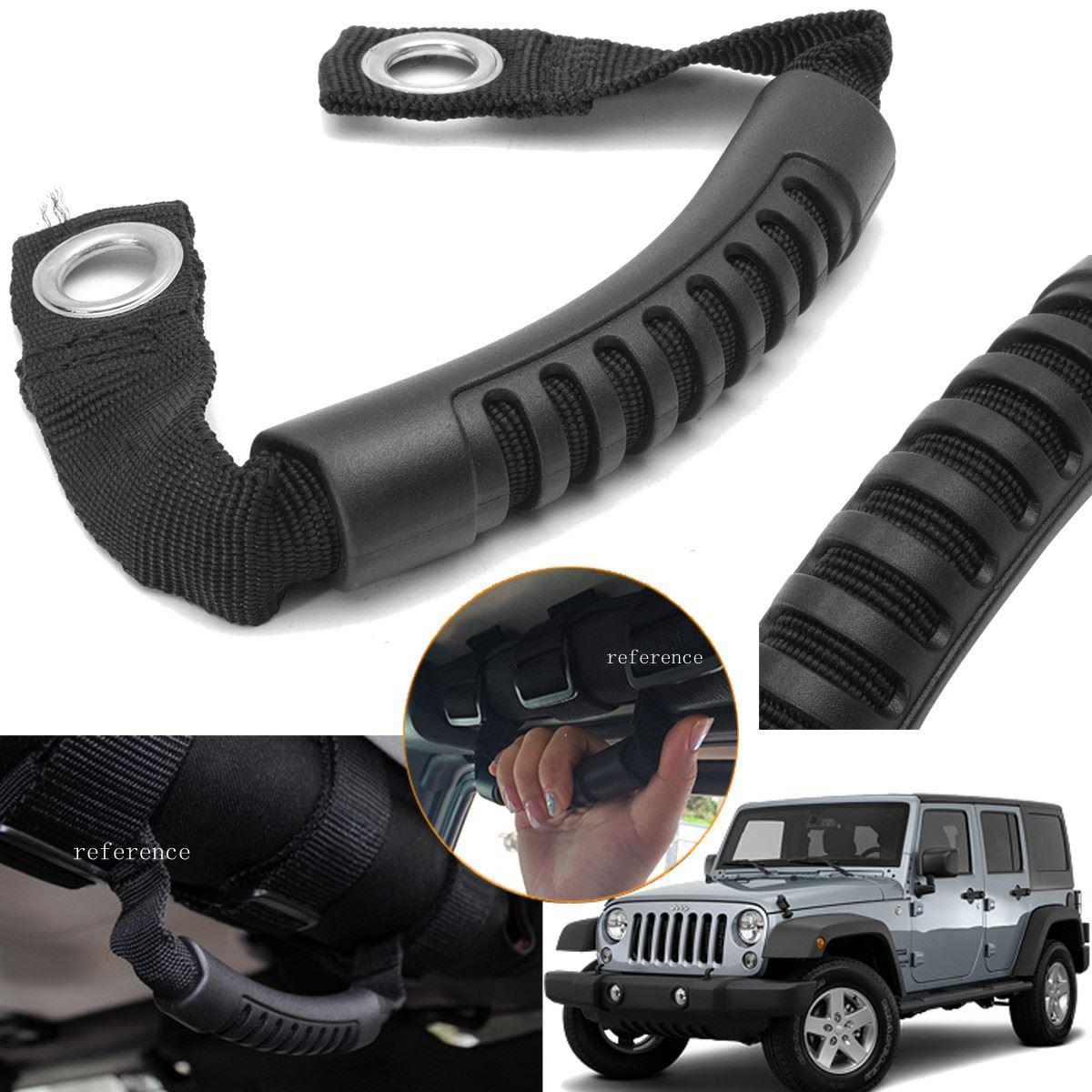 4Pcs Roll Bar Grab Handles Hook Black For Jeep Wrangler CJ YJ TJ JK USA Stock US