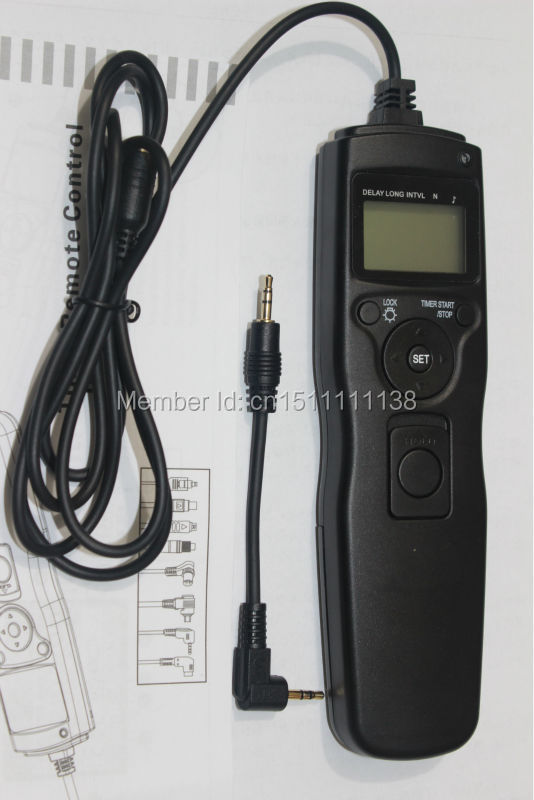 LCD intervalometer Time lapse Timer Remote Shutter Release Cable Cord for Canon Rebel T5i T4i T3i