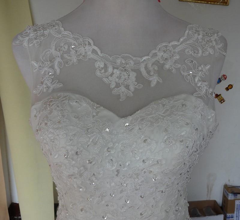Кружева Русалка Свадебные платья длина до пола Сексуальная спинки блестками бисером невесты платье размера плюс vestido de noiva casamento