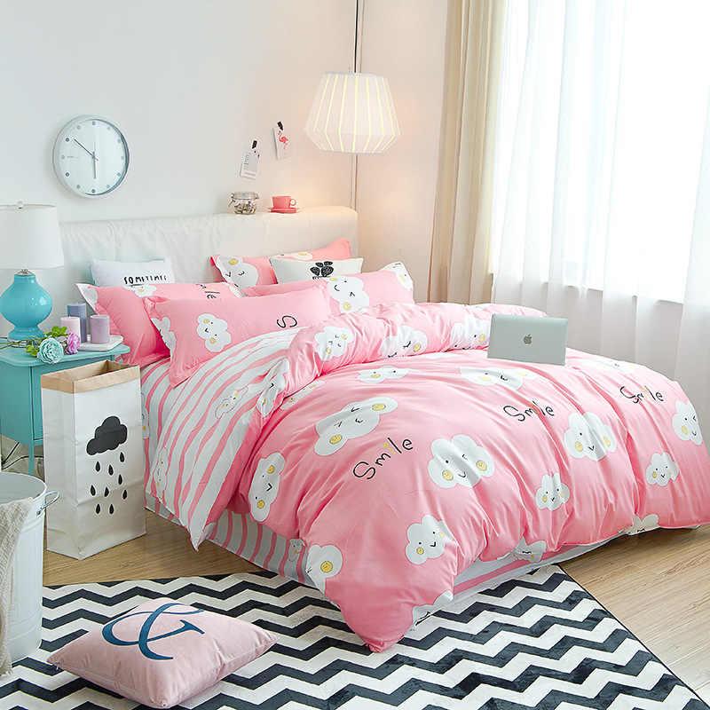 Bedding Set Adult Kids Child Soft Cotton Bed Linen Quilt Comforter Duvet Cover Single Queen King Size 24