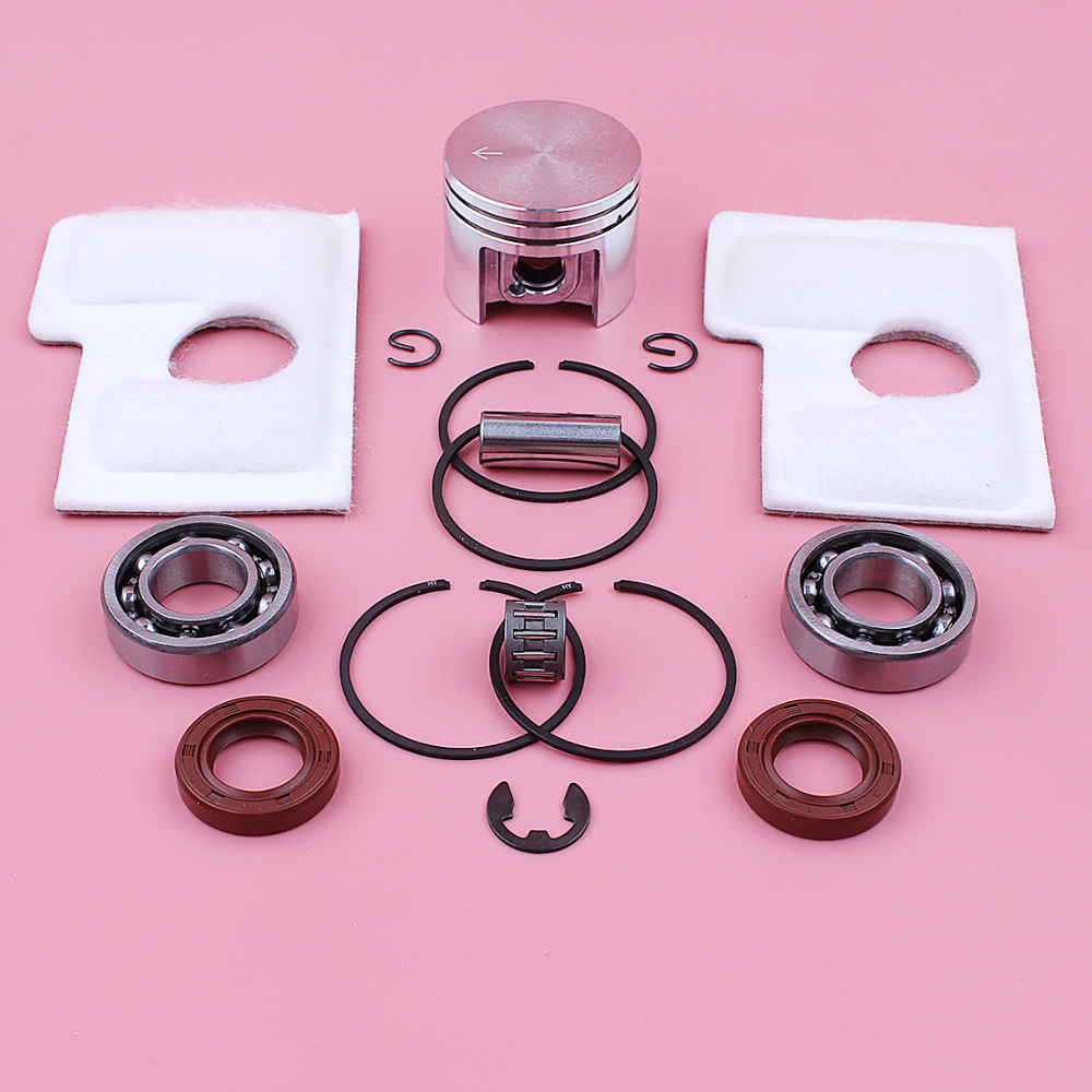 38mm Piston Pin Ring Circlip Kit For Stihl MS180 018 MS 180 Air Filter Crank Bearing Oil Seal E-clip Chainsaw Replace Spare Part