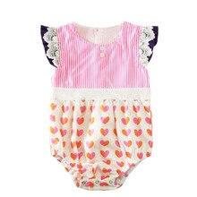 Sonho Vinha Da Menina Bonito Do Bebê Roupas Romper 0-24 M Infantil Bebes Princesa Meninas Rendas Macacão de Bebê Macacão Um Pieces Outfit Sunsuit