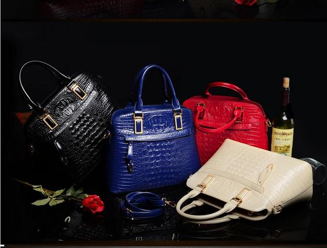 2017 Women Bags Luxury Leather Crocodile Famous Brands Handbag Shoulder Crossbody Bags Women Messenger Bags top-handle bags