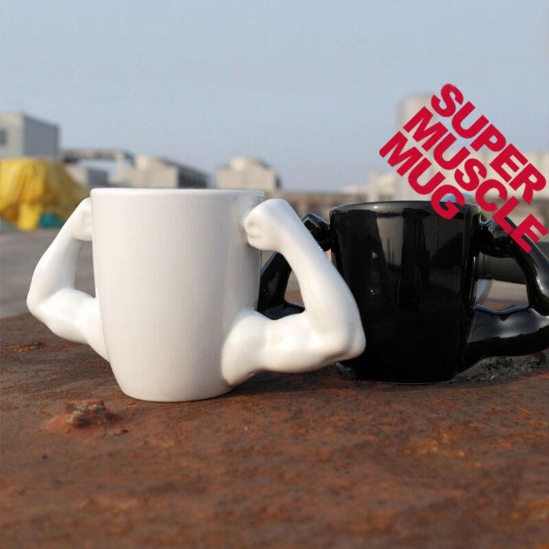 3D Muscle Man Coffee Mug Creative Muscle Arm Coffee Cup Hulk Ceramic Mug Coffee Cup For Kids Office Home Tea Milk Cups Gifts