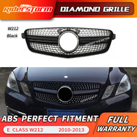 E Class Diamond Grille For Mercedes Benz W212 Sedan Pre Facelift Front Racing Grill 2010 2013 E200 E260 E300 E350 E400 grill