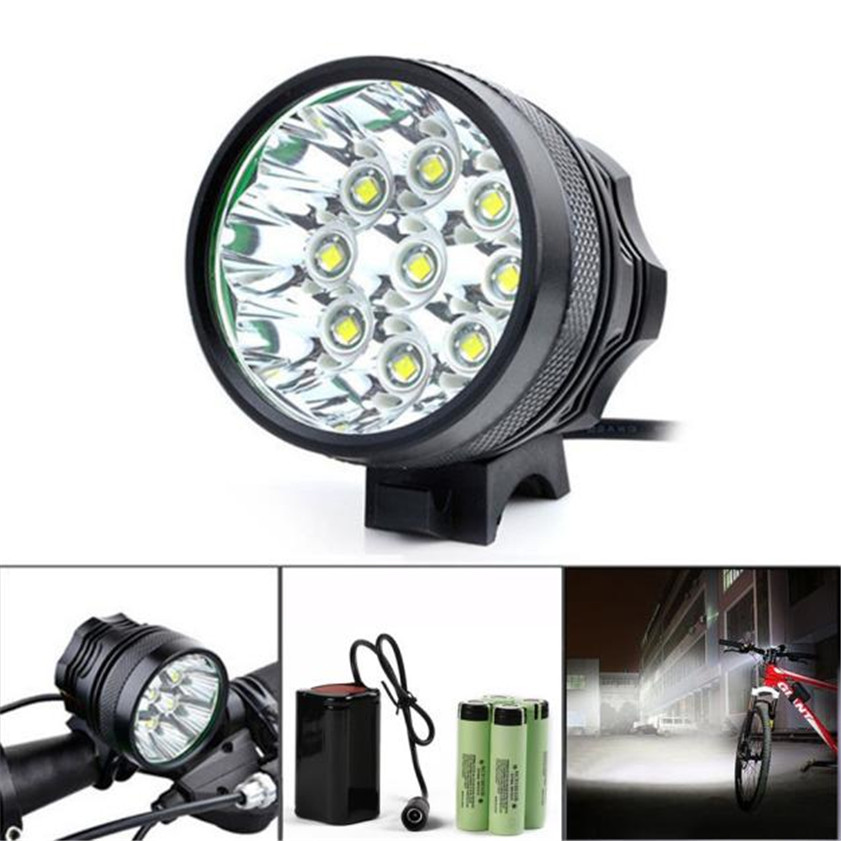 High Quality 20000LM 9 x CREE XM-L T6 LED 6 x 18650 Bicycle Cycling Light Waterproof Lamp
