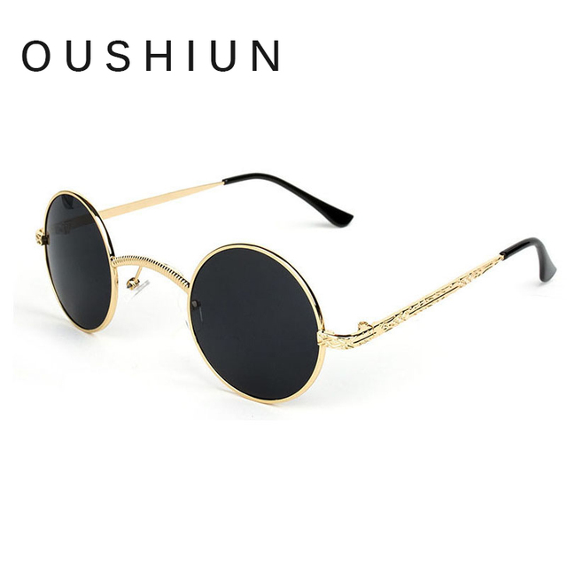 258c214ad00ea oushiun Victorian Steampunk Sunglasses Vampire Small Round Metal Sunglasses  Women Hollow Frame Men Metal eyewear Vintage glasses
