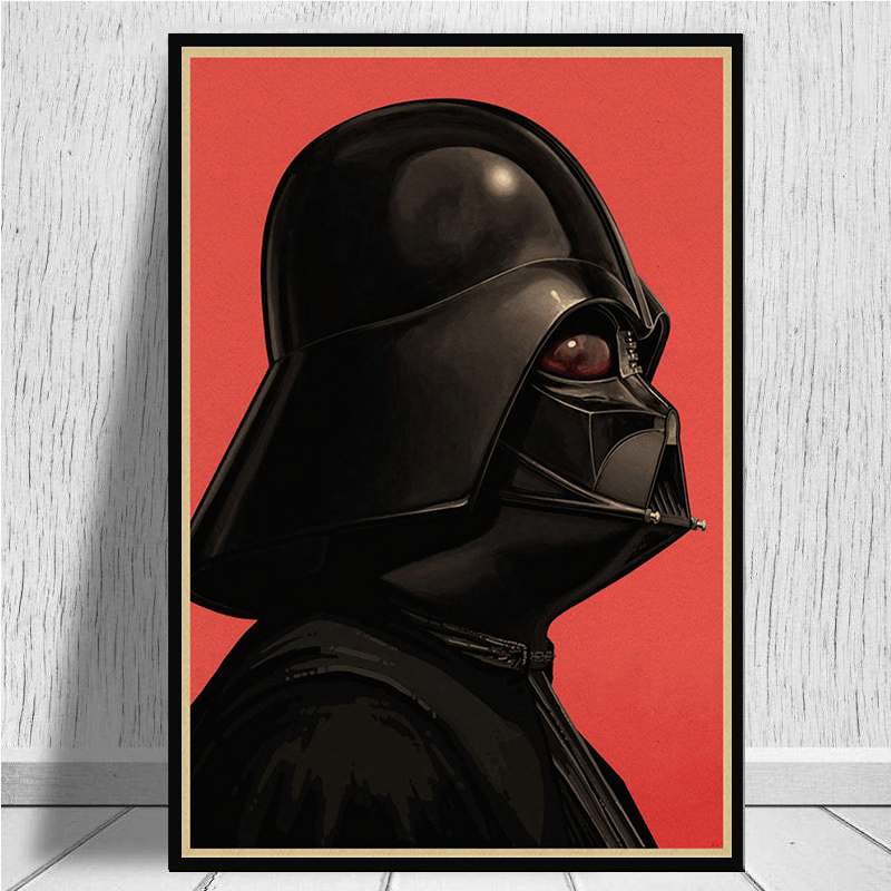 Image 3 - The profile of Star Wars characters Posters home decor kraft paper Painting wall stickers-in Wall Stickers from Home & Garden