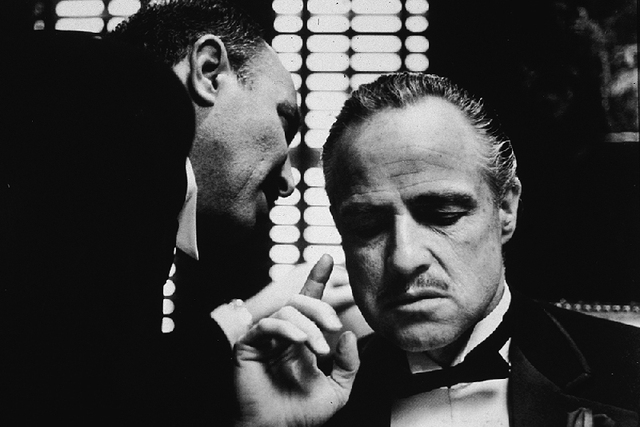 Print wall art painting black white canvas picture the godfather retro iconic movie art pictures oil