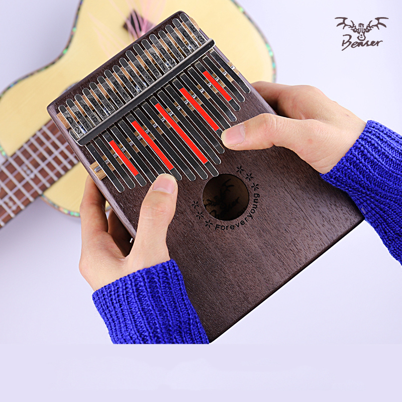 17 Key Finger Kalimba Mbira Sanza Thumb Piano Pocket Size Beginners Keyboard Marimba Wood Musical Instrument With Bag
