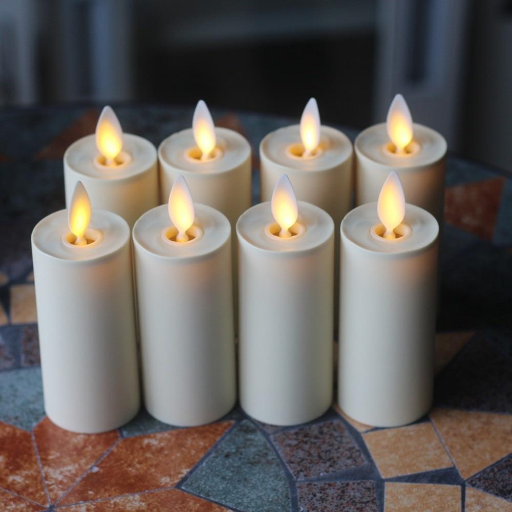 luminara flameless votive candles set of 8 ivorychina