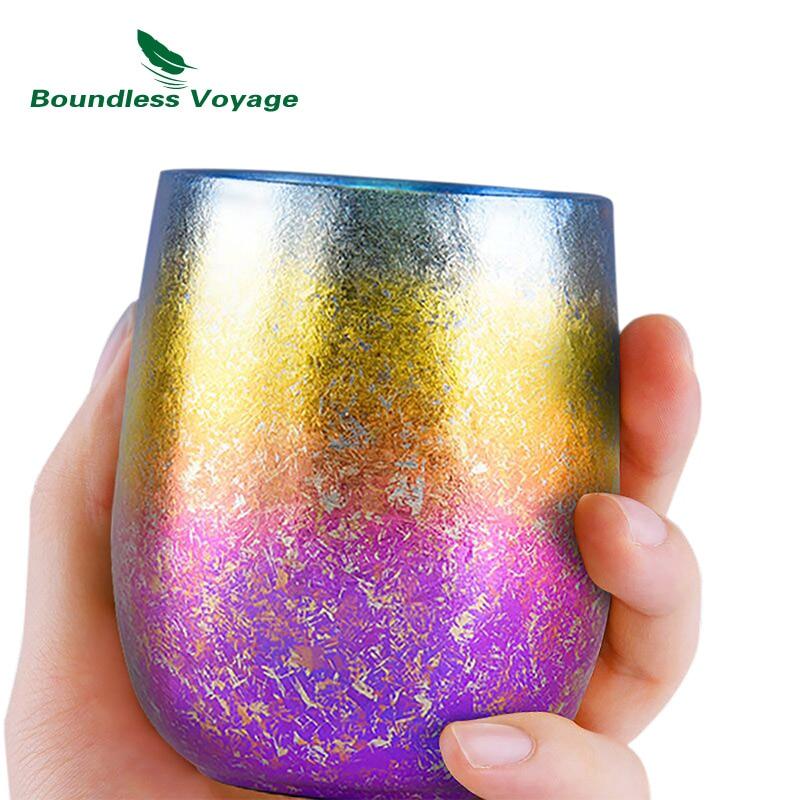 sem limites viagem copo de titanio 220 ml double layer ultraleve anti scalding colorido xicara de
