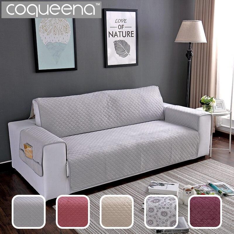 Fundas de sofá acolchadas de terciopelo fundas de sofá reclinables fundas de sofá para perros gatos domésticos Protector de muebles 1/2/3 asientos