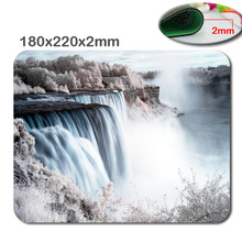 DIY Great rivers 180mmx220mmx2mm Custom HD 3D print Gaming Mouse Mat High Quality Durable Fashion Computer and Laptop Mouse Pad
