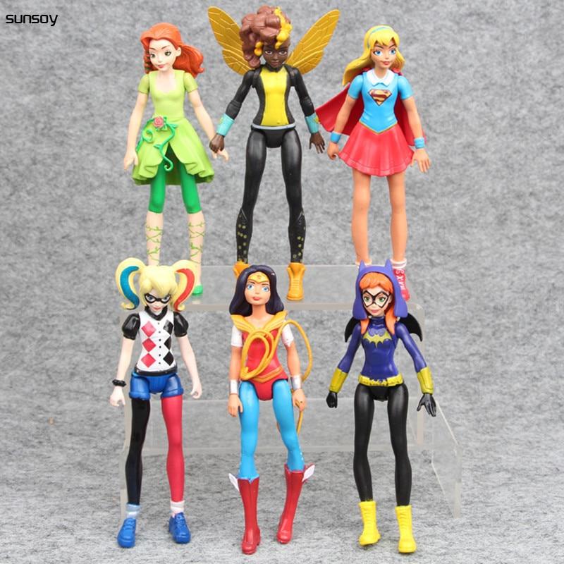 2017 Neue 6 Teile/satz Wonder Woman Batgirl Poison Ivy Bumble Bee Harley Quinn Selbstmord Squad Super Hero Wonder Woman Pvc-abbildung Spielzeug Eine GroßE Auswahl An Farben Und Designs