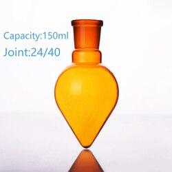 Brązowy w kształcie gruszki kolby  pojemność 150 ml  wspólne 24/40  brązowe serce kolby w kształcie  brązowy grubej w kształcie serca ziemi butelki