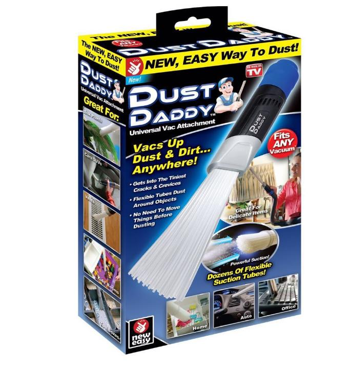 AS Seen On TV Dust Daddy Clean Brush Cleaning Tool Attachment for Vents/Keyboards/Drawers/Car/Crafts/Jewelry/Rattan Dirt Remover as seen on tv dust daddy cleaning tools cleaner brush for vents keyboards drawers car crafts jewelry plants rattan dirt remover