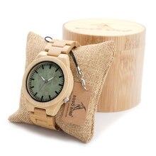 БОБО ПТИЦА Мужчины Дизайнер Древесины Бамбука Часы Мужчины Платье Часы С Bamboo Ремень Японский 2035 Движение В Подарочной Коробке