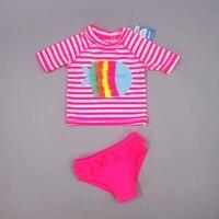 Chumhey الماركة اطفال بنات ملابس uv 50 + حماية الشمس قطعتين مجموعة الرضع المايوه بحر ملابس التزحلق