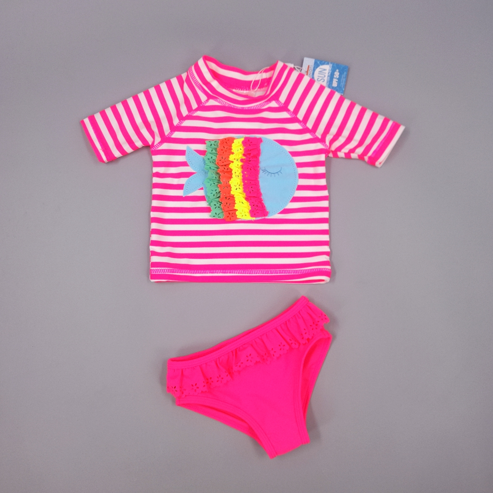 Chumhey Brand Baby Girls <font><b>swimwear</b></font> UV 50+ sun protection two pieces set infant bathing suit beachwear swimsuit diving surfing