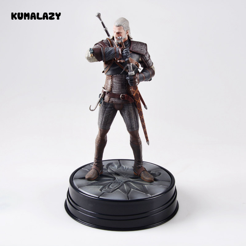 The Witcher 3 Wild Hunt Geralt of Rivia 19 CM PVC Action Figure Figuras Brinquedos Model