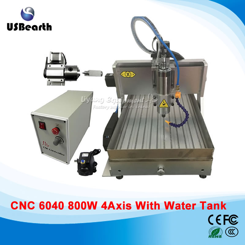 3D Wood Carving Router CNC6040 Metal Cutting Machinery With USB Port , Water Tank Cnc 800w, Free Tax To Russia