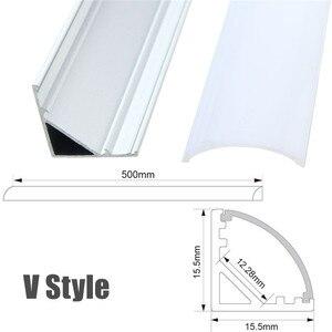Image 5 - 30/50cm LED בר אורות אלומיניום ערוץ מחזיק חלב כיסוי בסופו תאורת אביזרי U/V/ י. ו. סגנון בצורת עבור LED רצועת אור